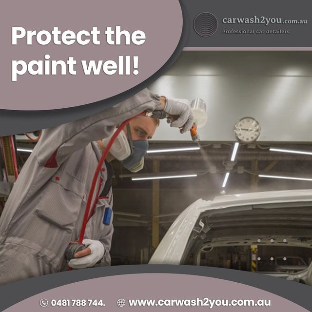 Protect the paint well!