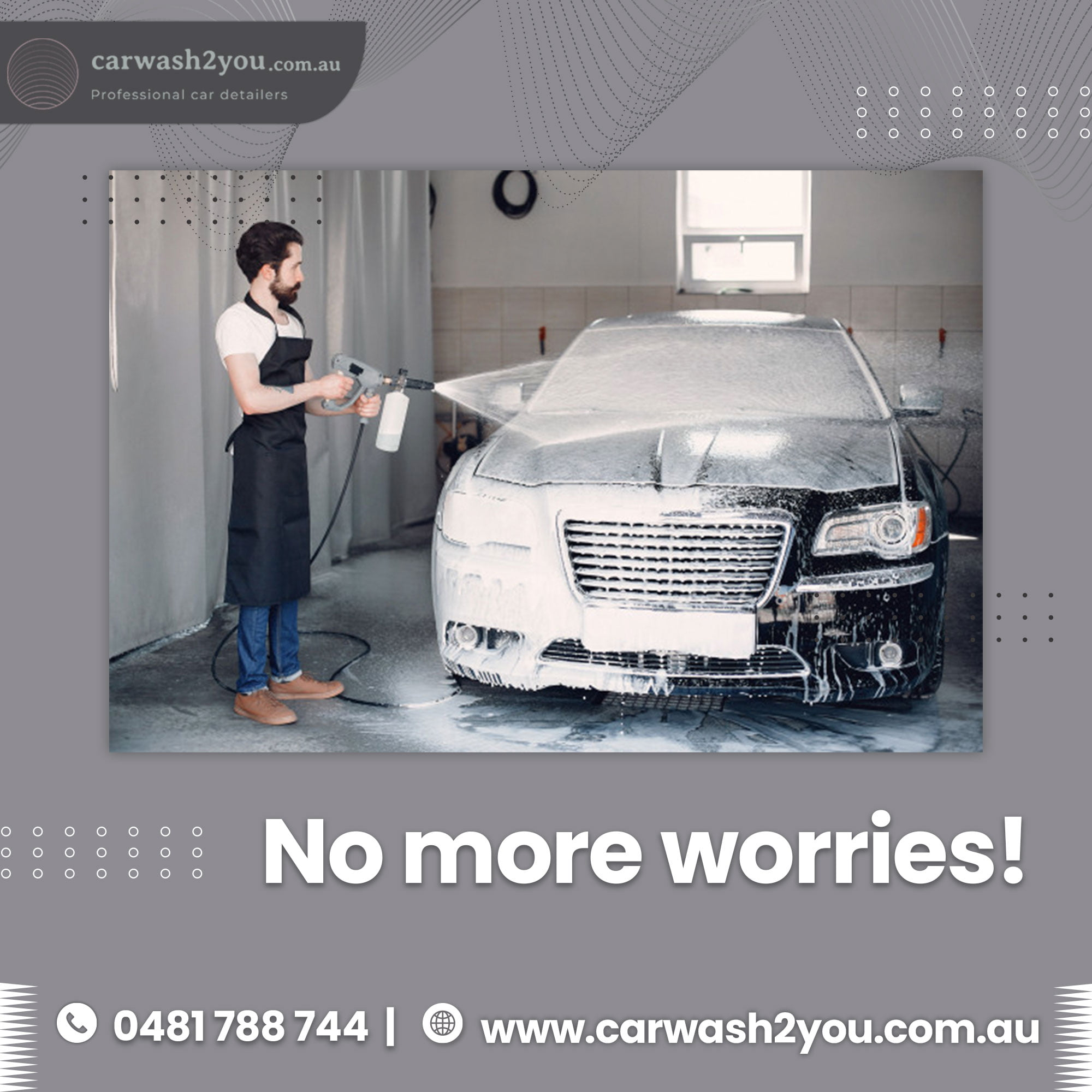 Mobile car washing